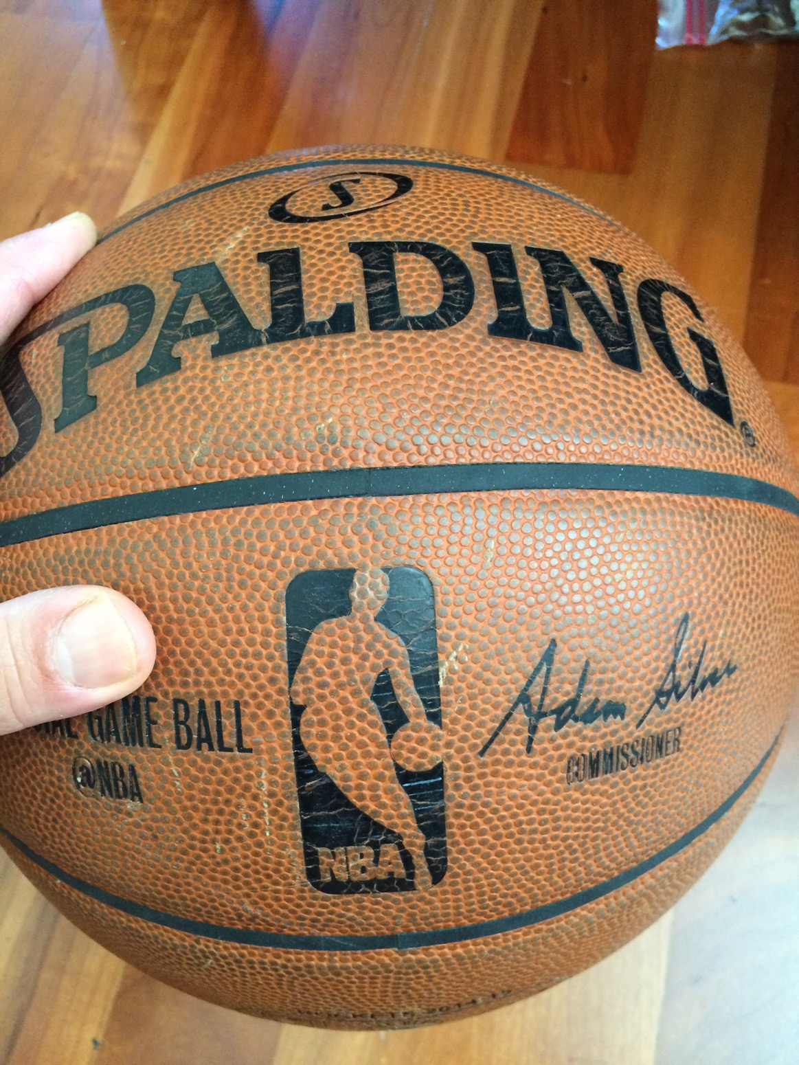 release date 35c5d 2864f I m not sure when Spalding changed the leather on the game ball but at the  end of the day, or season if you will, it ends up with the same look and ...