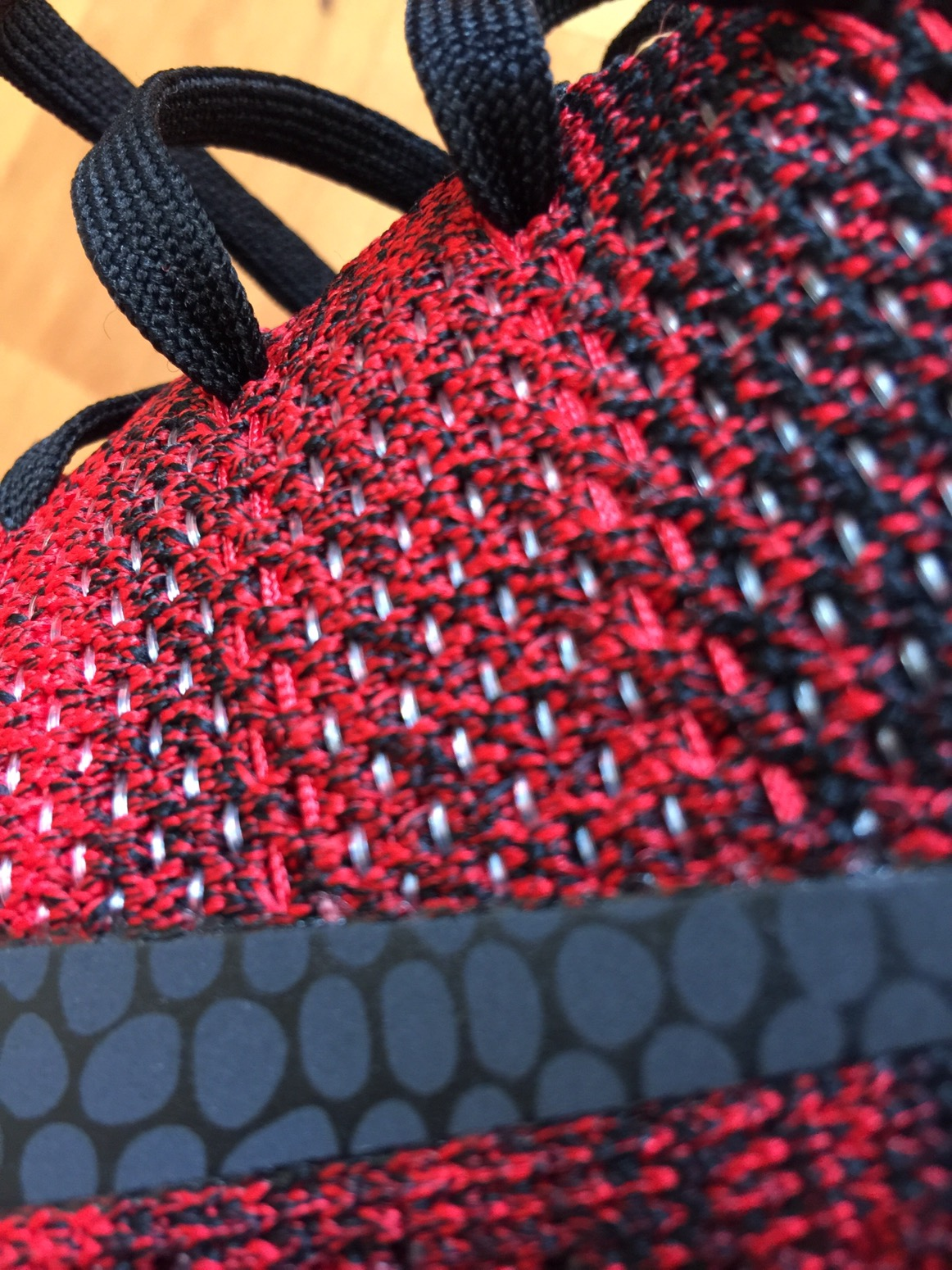 d0aff6e69b59 The story of the upper is the Flyknit infused with what looks like fishing  line (TPU).