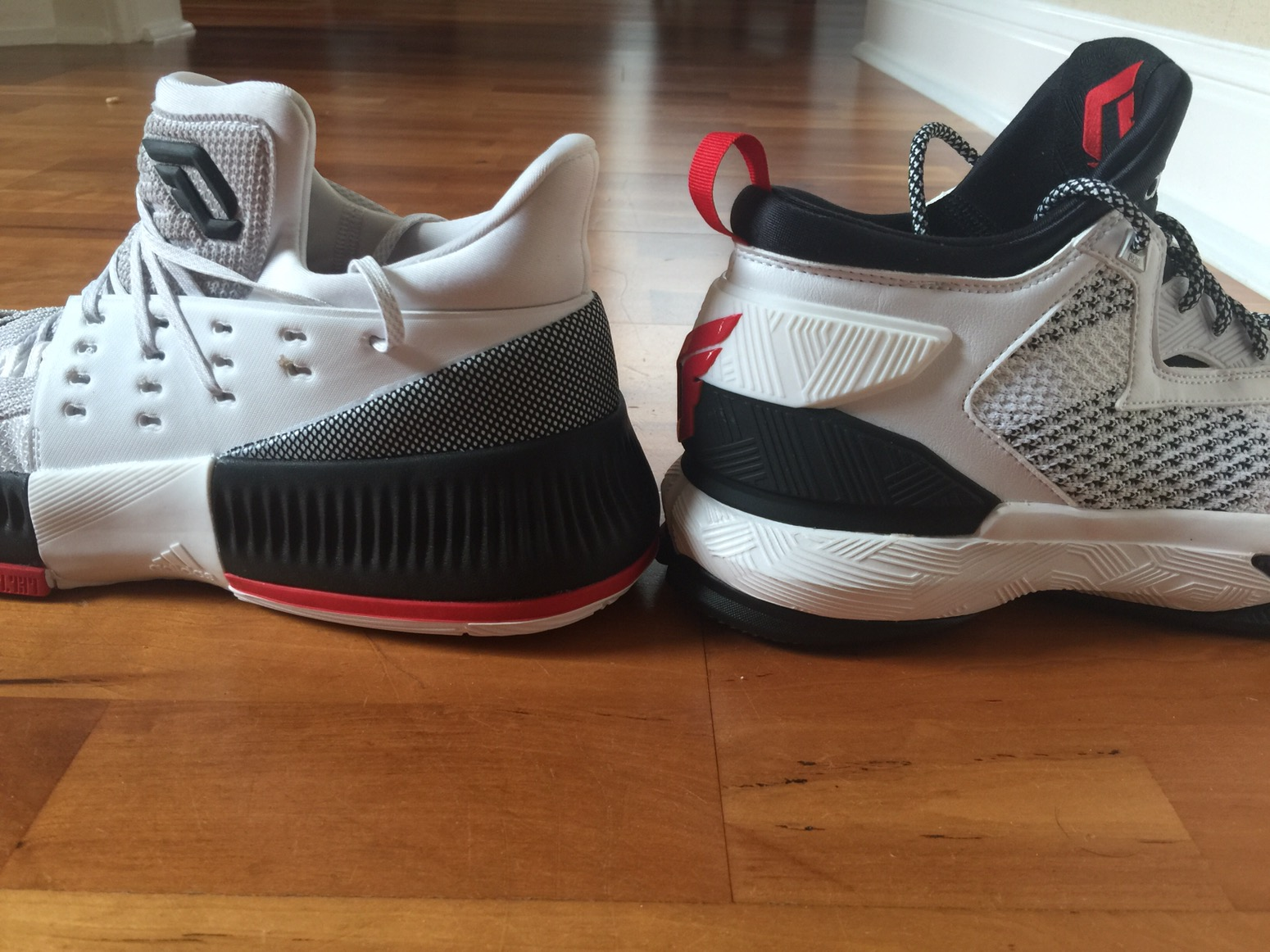 finest selection 88c5c da345 You can see the Dame 3 is slightly lower than the Lillard 2