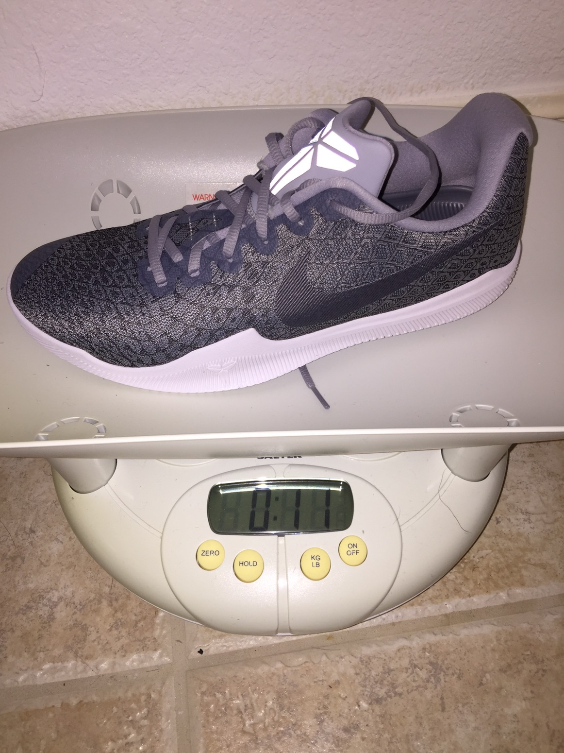 nike kobe mamba instinct weight