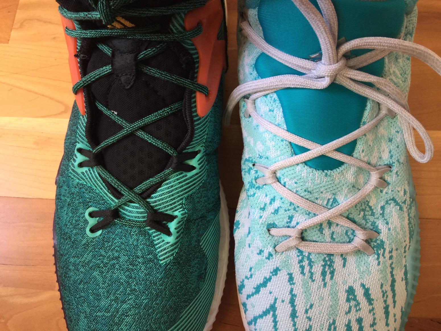 Adidas Crazylight Boost 2016 Primeknit vs Non PK Comparison