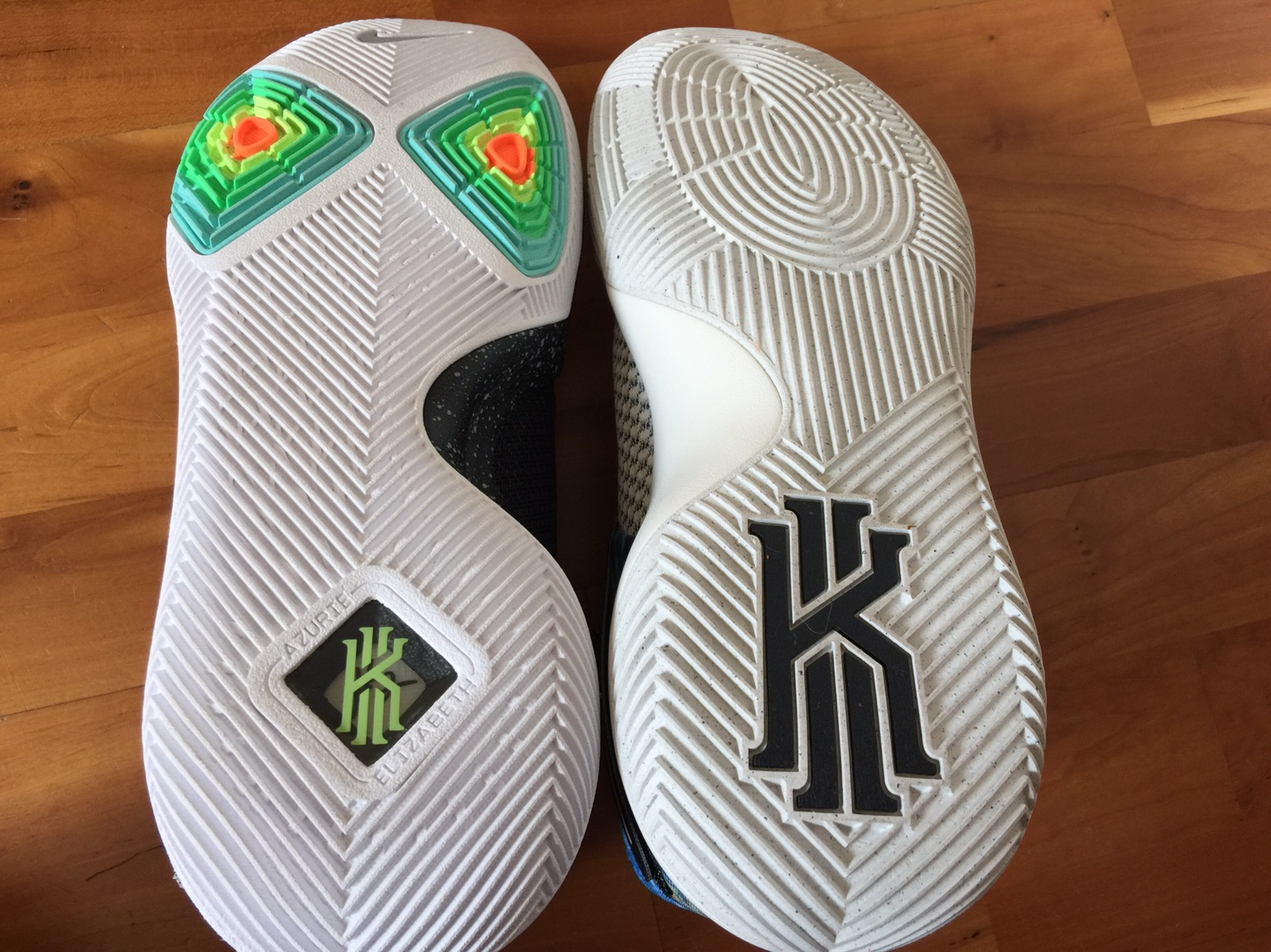 size 40 2f416 46590 If there is one thing you can say about the Kyrie line, it s that it s  traction patterns look aggressive.