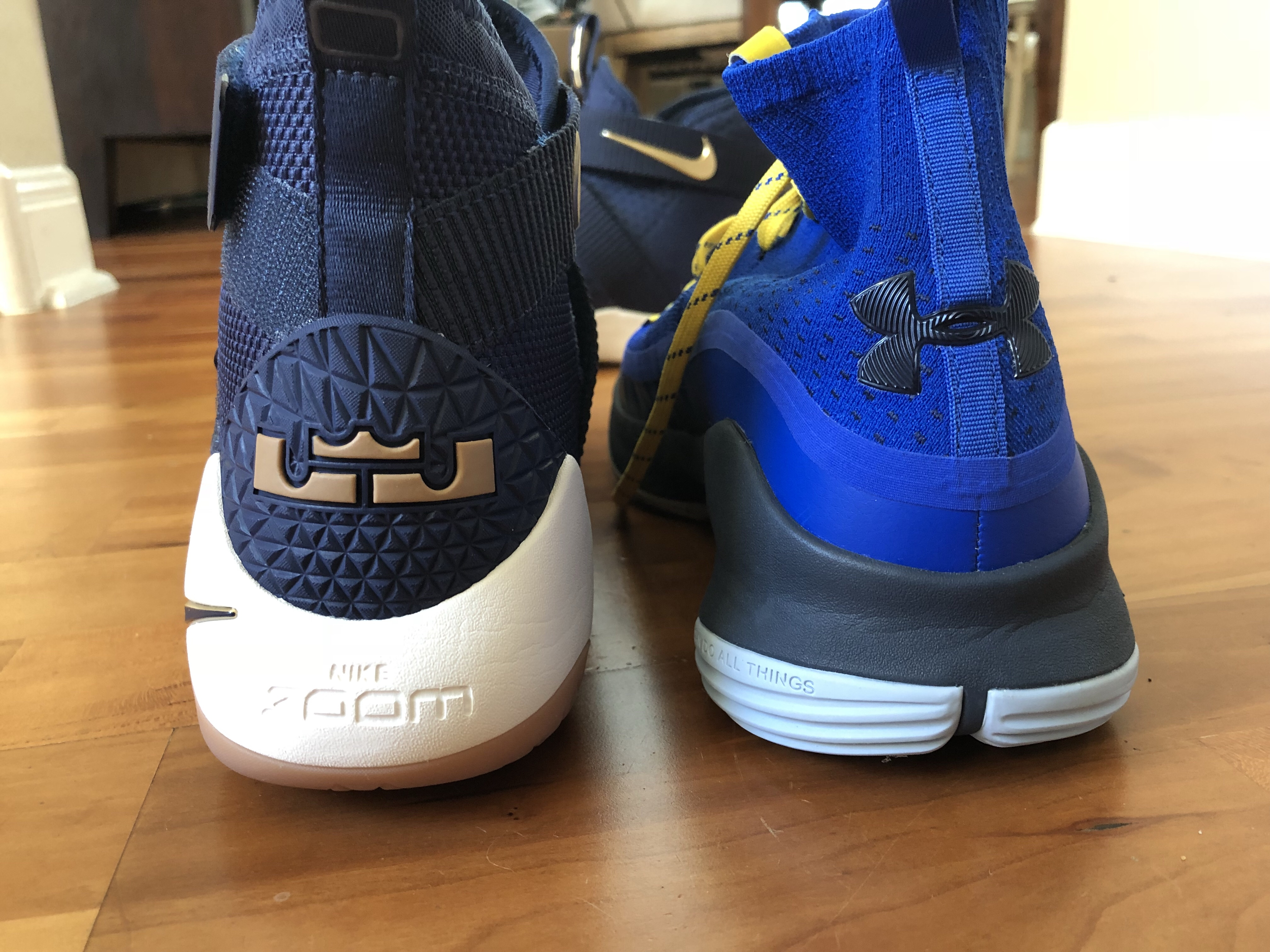 Support really comes from the fit and the firm heel counter. It's  interesting how the Soldier and Curry 4 employ the sculpted midsole.